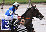 27 Sept 2008: Jockey Alan Garcia and Dynaforce are congratulated after a wire-to-wire win in the Flower Bowl Invitational Stakes at Belmont Park in Elmont, New York on Jockey Club Gold Cup Day.