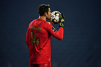 3rd January 2021; Dragao Stadium, Porto, Portugal; Portuguese Championship 2020/2021, FC Porto versus Moreirense; Mateus Pasinato of Moreirense kisses the ball as a shot goes wide