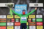 Sam Bennett (IRL) Deceuninck-Quick Step retains the points Green Jersey at the end of Stage 3 of Paris-Nice 2021, an individual time trial running 14.4km around Gien, France. 9th March 2021.<br /> Picture: ASO/Fabien Boukla | Cyclefile<br /> <br /> All photos usage must carry mandatory copyright credit (© Cyclefile | ASO/Fabien Boukla)