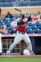 Kyle Roller (23) of the Scranton/Wilkes-Barre RailRiders at bat against the Durham Bulls at Durham Bulls Athletic Park on May 15, 2015 in Durham, North Carolina.  The RailRiders defeated the Bulls 8-4 in 11 innings.  (Brian Westerholt/Four Seam Images)