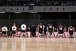 Members of Japan's national wheelchair basketball team greets to the audience during the Grand Opening Ceremony of Ariake Arena on February 2, 2020, Tokyo, Japan. The new sporting and cultural centre will host the volleyball and wheelchair basketball competitions during the Tokyo 2020 Olympic Games. (Photo by Rodrigo Reyes Marin/AFLO)