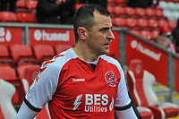 Fleetwood Town's midfielder Dean Marney (25) during the Sky Bet League 1 match between Fleetwood Town and Burton Albion at Highbury Stadium, Fleetwood, England on 15 December 2018. Photo by Stephen Buckley / PRiME Media Images.