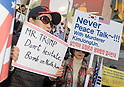 Protests in Seoul as Trump visits South Korea