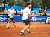 Amstelveen, Netherlands, 1 August 2020, NTC, National Tennis Center, National Tennis Championships, Men's Doubles final: Sander Arends and David Pel (NED) (L)<br /> Photo: Henk Koster/tennisimages.com