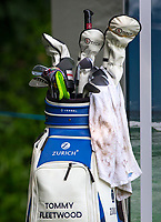 There Golf bag of Tommy Fleetwood during Practice Day at BMW PGA Championship Wentworth Golf at Wentworth Drive, Virginia Water, England on 22 May 2018. Photo by Andy Rowland.