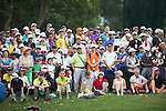The crowd of spectators during UBS Hong Kong Open golf tournament at the Fanling golf course on 25 October 2015 in Hong Kong, China. Photo by Aitor Alcade / Power Sport Images