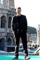 "HAYDEN CHRISTENSEN.Photocall for ""Jumper"", Rome, Italy..February 6th, 2008.full length black jacket converse trainers sneakers hands in pocket.CAP/CAV.©Luca Cavallari/Capital Pictures."