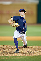 Northwest Arkansas Naturals relief pitcher Sam Selman (17) delivers a pitch during a game against the Midland RockHounds on May 27, 2017 at Arvest Ballpark in Springdale, Arkansas.  NW Arkansas defeated Midland 3-2.  (Mike Janes/Four Seam Images)