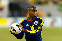 Edwin Valencia (15) of Colombia. Brazil (BRA) and Colombia (COL) played to a 1-1 tie during international friendly at MetLife Stadium in East Rutherford, NJ, on November 14, 2012.