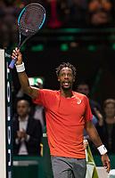 Rotterdam, The Netherlands, 16 Februari 2019, ABNAMRO World Tennis Tournament, Ahoy, Semis, Gael Monfils (FRA) winner,<br /> Photo: www.tennisimages.com/Henk Koster