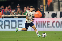 LAS VEGAS, NV - AUGUST 1: Paul Arriola #7 of the United States during a game between Mexico and USMNT at Allegiant Stadium on August 1, 2021 in Las Vegas, Nevada.