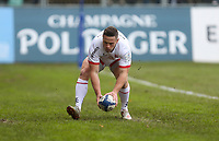 16 November 2019; John Cooney races clear to score the first try for Ulster during the Heineken Champions Cup Pool 3 Round 1 match between Bath and Ulster at The Recreation Ground in Bath, England. Photo by John Dickson/DICKSONDIGITAL