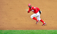 24 April 2010: Washington Nationals' outfielder Nyjer Morgan runs to third base during a game against the Los Angeles Dodgers at Nationals Park in Washington, DC. The Dodgers edged out the Nationals 4-3 in a thirteen inning game. Mandatory Credit: Ed Wolfstein Photo