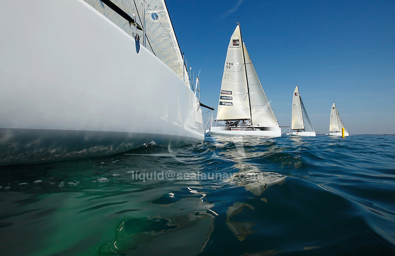 Training session for the M34 before the Spi Ouest in La Trinite sur Mer, France.