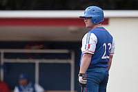 13 July 2010: David Gauthier of Team France is seen at bat during day 1 of the Open de Rouen, an international tournament with Team France, Team Saint Martin, Team All Star Elite, at Stade Pierre Rolland, in Rouen, France.