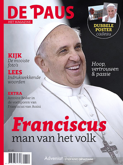 De Paus Het Magazine Pope Francis .<br /> Photograph by Stefano Spaziani.