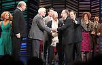 "Kristin Chenoweth, Neil Simon, Dick Latessa, Burt Bacharach, Sean Hayes, Hal David, Rob Ashford, Katie Finneran.taking a bow on the  Opening Night Broadway performance Curtain Call for ""PROMISES, PROMISES"" at the Broadway Theatre, New York City..April 25, 2010."