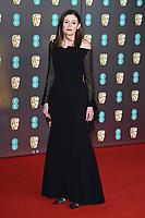 Amanda Berrie<br /> arriving for the BAFTA Film Awards 2020 at the Royal Albert Hall, London.<br /> <br /> ©Ash Knotek  D3554 02/02/2020