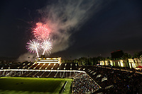 Stanford, CA - Saturday June 30, 2018: Post-game fireworks after a Major League Soccer (MLS) match between the San Jose Earthquakes and the LA Galaxy at Stanford Stadium.