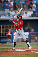Fort Myers Miracle Michael Helman (8) during a Florida State League game against the Charlotte Stone Crabs on April 6, 2019 at Charlotte Sports Park in Port Charlotte, Florida.  Fort Myers defeated Charlotte 7-4.  (Mike Janes/Four Seam Images)