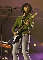 Miranie Morrissette performs at the Saint-Jean-Baptiste show on the Plains of Abraham Thursday June 23, 2005.