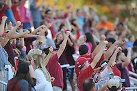 NWA Democrat-Gazette/ANDY SHUPE<br /> Arkansas' Vanderbilt's Thursday, Oct. 6, 2016, during the second half of play at Razorback Field in Fayetteville. Visit nwadg.com/photos to see more photographs from the game.