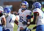 Boise State's Joe Southwick (16) celebrates after D.J. Harper (7) scored a touchdown during the first half of a NCAA college football game on Saturday, Dec. 1, 2012,  in Reno, Nev. (AP Photo/Cathleen Allison)