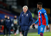 2nd January 2021; Selhurst Park, London, England; English Premier League Football, Crystal Palace versus Sheffield United; Crystal Palace Manager Roy Hodgson walking back towards the tunnel after full time alongside Wilfried Zaha of Crystal Palace