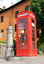 """SAGRA DEL """"PESCE E PATATE"""" 2011, BARGA, ITALY<br /> <br /> A RED TELEPHONE BOX THAT WAS GIFTED TO THE BARGA COMMUNITY BY MAURO CECCHINI FROM EDINBURGH."""