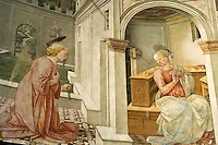 Italien, Umbrien, Duomo Santa Maria Assunta in Spoleto, Fresken von Filippo Lippi Mitte 15. Jh.
