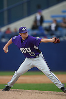 February 22 2009: Taylor Cragin of the TCU Horned Frogs during game against the CSUF Titans at Goodwin Field in Fullerton,CA.  Photo by Larry Goren/Four Seam Images