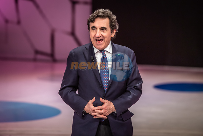 Urbano Cairo, President of RCS Media Group, at the presentation of the 2021 Giro d'Italia Route in the Rai Studios in Corso Sempione, Milan, Italy. 23rd February 2021.  <br /> Picture: LaPresse/Claudio Furlan | Cyclefile<br /> <br /> All photos usage must carry mandatory copyright credit (© Cyclefile | LaPresse/Claudio Furlan)