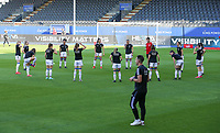 OHL players warming up before a female soccer game between Oud Heverlee Leuven and Standard Femina de Liege on the third matchday of the 2021 - 2022 season of Belgian Womens Super League , Sunday 5 th of September 2021  in Leuven , Belgium . PHOTO SPORTPIX.BE   SEVIL OKTEM