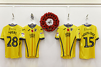 A Remembrance Day wreath hangs in the Swansea changing room prior to the Sky Bet Championship match between Sheffield Wednesday and Swansea City at Hillsborough Stadium, Sheffield, England, UK. Saturday 09 November 2019