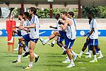 Chelsea Forward Alvaro Morata (C) during a ICC Singapore Training Session on July 28, 2017 in Singapore. Photo by Marcio Rodrigo Machado / Power Sport Images