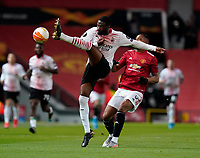 Fikayo Tomori of AC Milan intercepts Anthony Martial of Manchester United, ManU during the UEFA Europa League match at Old Trafford, Manchester. Picture date: 11th March 2021. Picture credit should read: Andrew Yates/Sportimage/Imago/Insidefoto ITALY ONLY SPI-0952-0019