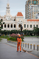 Ho Chi Minh City Hall and District one in the morning<br />  - Ho Chi Minh City.