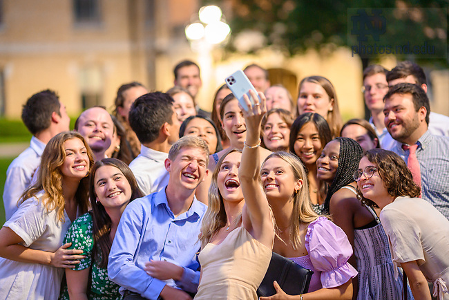 July 22, 2021; ACE graduates take a selfie after the 2021 ACE Missioning Mass. (Photo by Matt Cashore/University of Notre Dame)