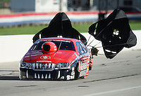 Sept 8, 2012; Clermont, IN, USA: NHRA pro stock driver V. Gaines during qualifying for the US Nationals at Lucas Oil Raceway. Mandatory Credit: Mark J. Rebilas-