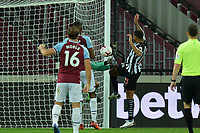 Callum Wilson of Newcastle United scores the first Goal and celebrates during West Ham United vs Newcastle United, Premier League Football at The London Stadium on 12th September 2020