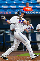 Travis Ozga #25 of the St. Lucie Mets during game 3 of the Florida State League Championship Series against the Daytona Cubs at Digital Domain Park on Spetember 11, 2011 in Port St. Lucie, Florida. Daytona won the game 4-2 to win the Florida State League Championship.  Photo by Scott Jontes / Four Seam Images