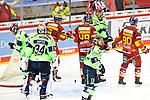 Eishockey DEL 37. Spieltag: Düsseldorfer EG vs <br /> ERC Ingolstadt am 07.04.2021 im ISS Dome in Düsseldorf<br /> <br /> Torjubel der Düsseldorfer nach dem Ausgleich<br /> <br /> Foto © PIX-Sportfotos *** Foto ist honorarpflichtig! *** Auf Anfrage in hoeherer Qualitaet/Aufloesung. Belegexemplar erbeten. Veroeffentlichung ausschliesslich fuer journalistisch-publizistische Zwecke. For editorial use only.