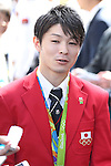 Kohei Uchimura  (JPN), <br /> OCTOBER 7, 2016 :<br /> Japanese medalists of Rio 2016 Olympic and Paralympic Games wave to spectators during a parade from Ginza to Nihonbashi, Tokyo, Japan.<br /> (Photo by Shingo Ito/AFLO)