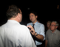 The Leader of the Liberal Party of Canada, Justin Trudeau, attend a community social in Saint-Leonard., Friday, August 28, 2015 at<br /> Leonardo da Vinci Centre <br /> 8370 Lacordaire Boulevard<br /> Saint-Léonard, Quebec<br /> <br /> <br /> <br /> <br /> Photo : AQP - Philippe Manh Nguyen