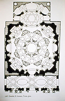 Plan of San Lorenzo, Baroque-style church in Turin. Designed and built by Guarino Guarini during 1668–1687.