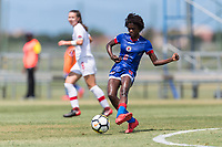 Bradenton, FL - Sunday, June 12, 2018: Angeline Gustave prior to a U-17 Women's Championship 3rd place match between Canada and Haiti at IMG Academy. Canada defeated Haiti 2-1.