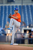 St. Lucie Mets starting pitcher Briam Campusano (4) during a Florida State League game against the Tampa Tarpons on April 10, 2019 at George M. Steinbrenner Field in Tampa, Florida.  St. Lucie defeated Tampa 4-3.  (Mike Janes/Four Seam Images)