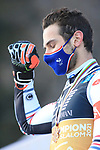FIS Alpine World Ski Championships 2021 Cortina - Coronavirus Outbreak. Cortina d'Ampezzo, Italy on February 16, 2021. Parallel Event, Mathieu Faivre (FRA) with his gold medal  © Pierre Teyssot