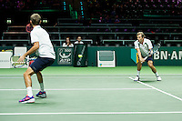 Rotterdam, The Netherlands, Februari 8, 2016,  ABNAMROWTT, Julien Benneteau (FRA) / Edouard Roger Vaseline (FRA)<br /> Photo: Tennisimages/Henk Koster