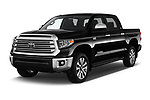 2018 Toyota Tundra Limited-Crew-Max-Short-Bed 4 Door Pickup Angular Front stock photos of front three quarter view